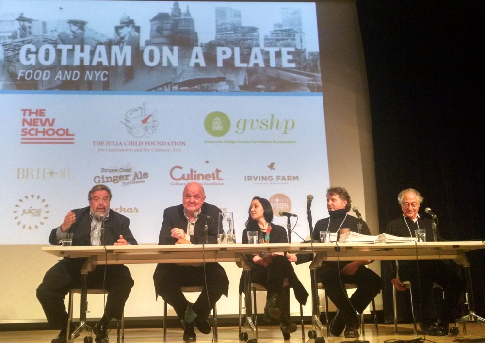 Drew Nieporent, Adam Platt, Jacqueline Raposo, David Rosengarten & Michael Whiteman at Gotham on a Plate